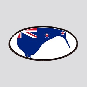 New Zealand Flag With Kiwi SIlhouette Patch