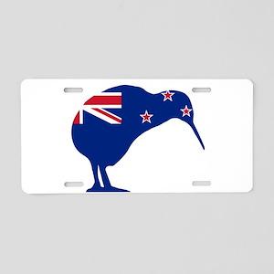 New Zealand Flag With Kiwi Aluminum License Plate