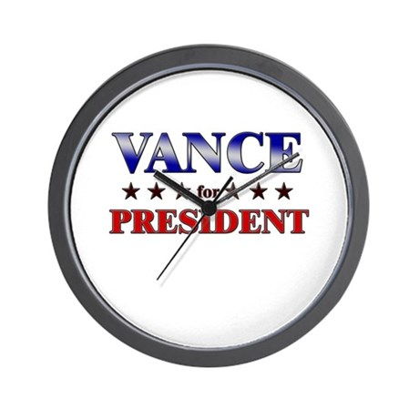 VANCE for president Wall Clock