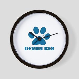 Devon Rex Cat Designs Wall Clock