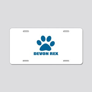 Devon Rex Cat Designs Aluminum License Plate