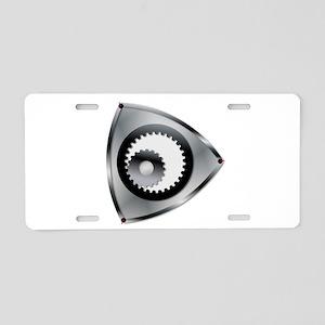 Rotary Engine Rotar Aluminum License Plate