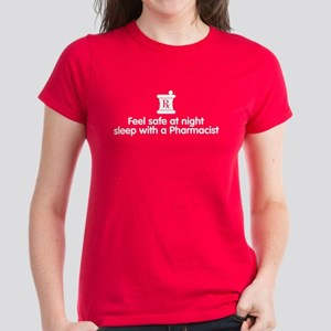 Feel Safe with a Pharmacist Women's Dark T-Shirt