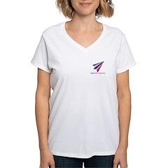 Women's V-Neck T-Shirt--Updraft America