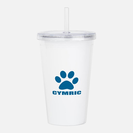 Cymric Cat Designs Acrylic Double-wall Tumbler