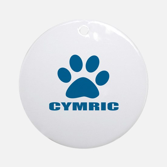 Cymric Cat Designs Round Ornament