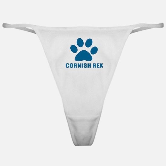Cornish Rex Cat Designs Classic Thong