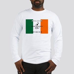 Long Sleeve Irish Flag Hurling T-Shirt