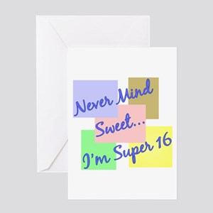Super 16 Greeting Card