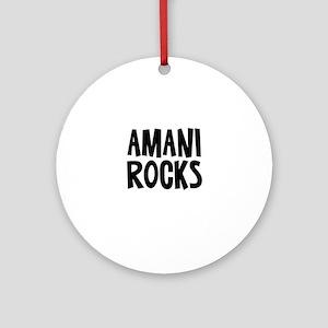Amani Rocks Ornament (Round)