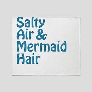 Salty Air Mermaid Hair Throw Blanket