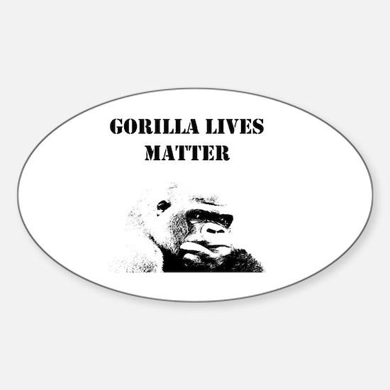 Unique Gorilla Sticker (Oval)