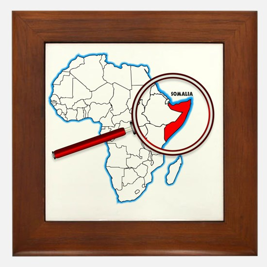 Unique Somalia Framed Tile