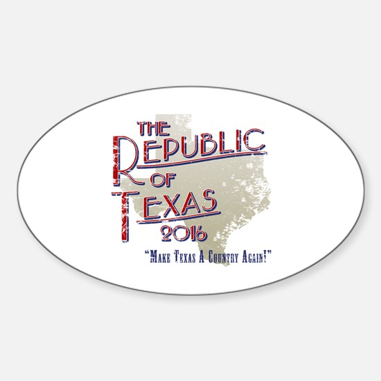Funny Texas secede Sticker (Oval)