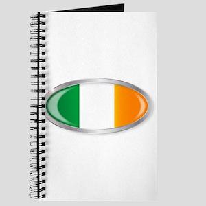 Irish Flag Oval Button Journal
