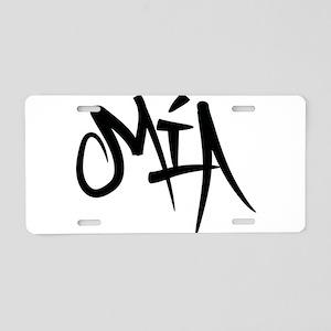 MIA Graffiti Aluminum License Plate