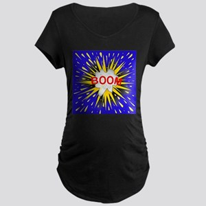 Boom Cartoon Bubble Maternity T-Shirt