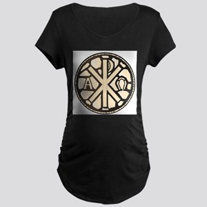Alpha Omega Stain Glass Maternity T-Shirt