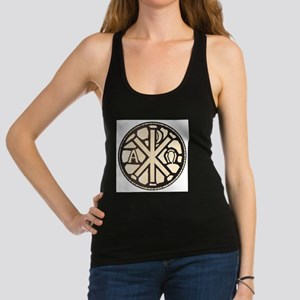 Alpha Omega Stain Glass Racerback Tank Top