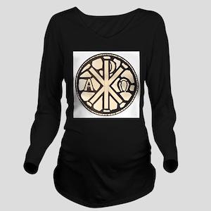Alpha Omega Stain Gl Long Sleeve Maternity T-Shirt