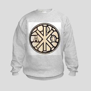 Alpha Omega Stain Glass Kids Sweatshirt
