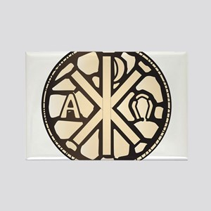 Alpha Omega Stain Glass Magnets