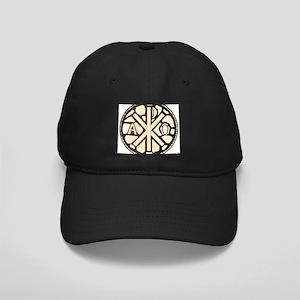 Alpha Omega Stain Glass Black Cap