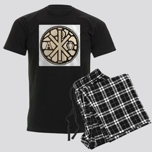 Alpha Omega Stain Glass Men's Dark Pajamas