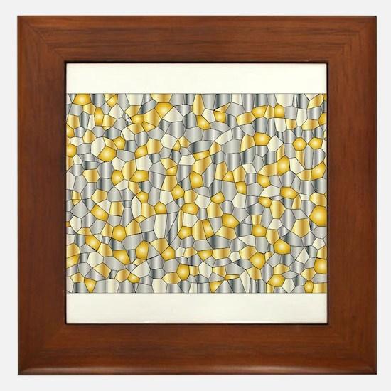 Metalic Mosaic Framed Tile