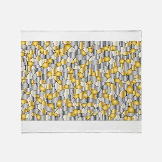 Metalic Mosaic Throw Blanket
