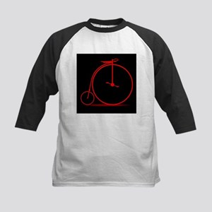 Red Penny Farthing Baseball Jersey