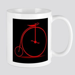 Red Penny Farthing Mugs