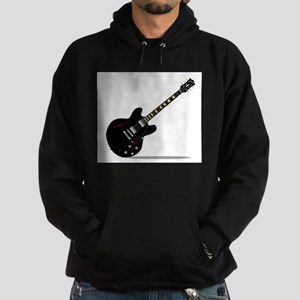 Black Semi Solid Guitar Hoodie (dark)