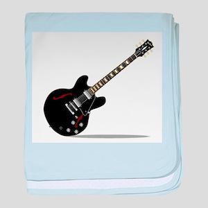 Black Semi Solid Guitar baby blanket