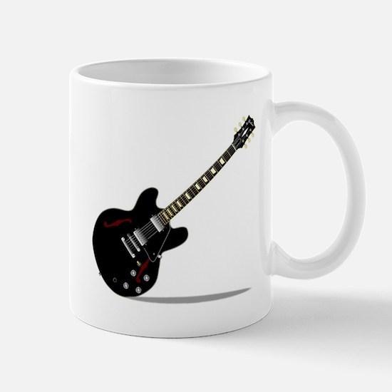 Black Semi Solid Guitar Mugs