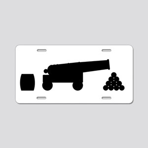 Cannon Silhouette Aluminum License Plate