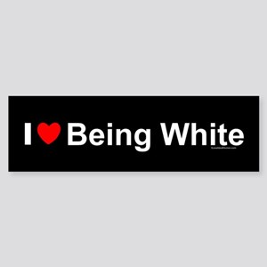 Being White Sticker (Bumper)