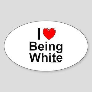 Being White Sticker (Oval)