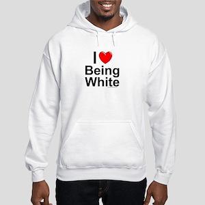 Being White Hooded Sweatshirt