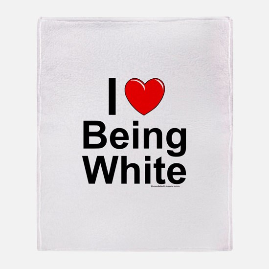 Being White Throw Blanket