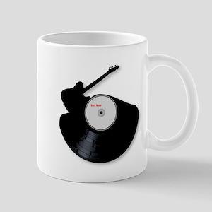 Rock Music Silhouette Record Mugs