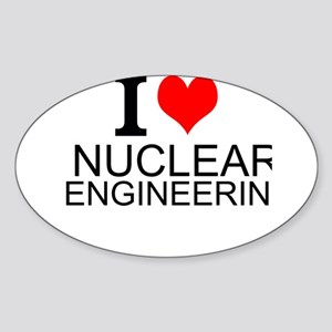 I Love Nuclear Engineering Sticker