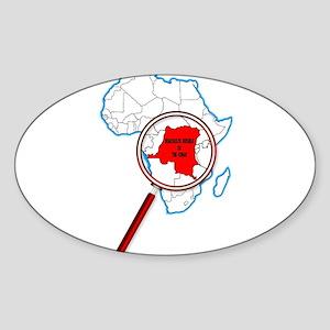Democratic Republic of the Congo Under A M Sticker
