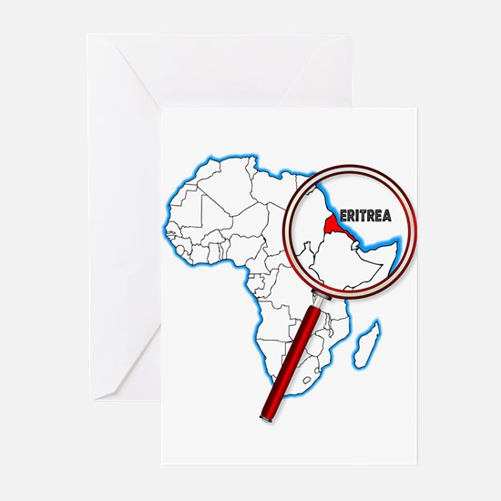 Eritrea Under A Magnifying Glass Greeting Cards