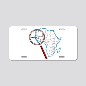 Gambia Under A Magnifying G Aluminum License Plate