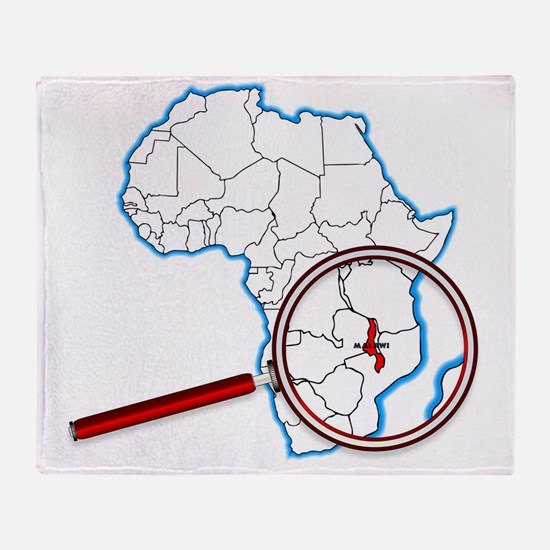 Malawi Under A Magnifying Glass Throw Blanket