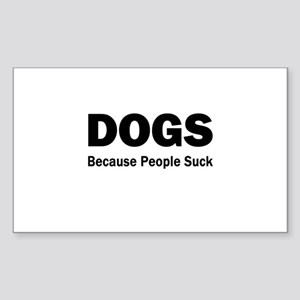 Dogs Sticker (Rectangle)