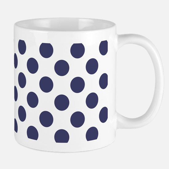 Blue Polka Dot Pattern Mugs