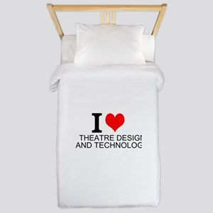 I Love Theatre Design And Technology Twin Duvet