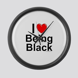 Being Black Large Wall Clock